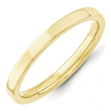 10KY 2.5mm Standard Flat Comfort Fit Band Size 7