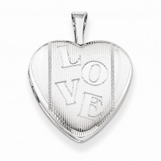 Sterling Silver 16mm LOVE Heart Locket