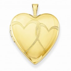 1/20 Gold Filled 20mm Entwined Hearts Heart Locket