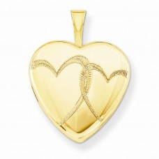 1/20 Gold Filled 16mm Entwined Hearts Heart Locket