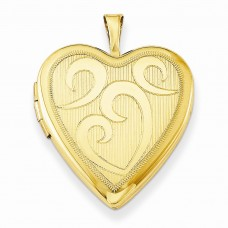 Gold Plated Sterling Silver 20mm Heart Locket