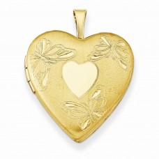 Gold Plated Sterling Silver 20mm Butterfly Locket