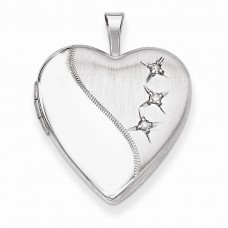 Sterling Silver 20mm D/C Heart Locket